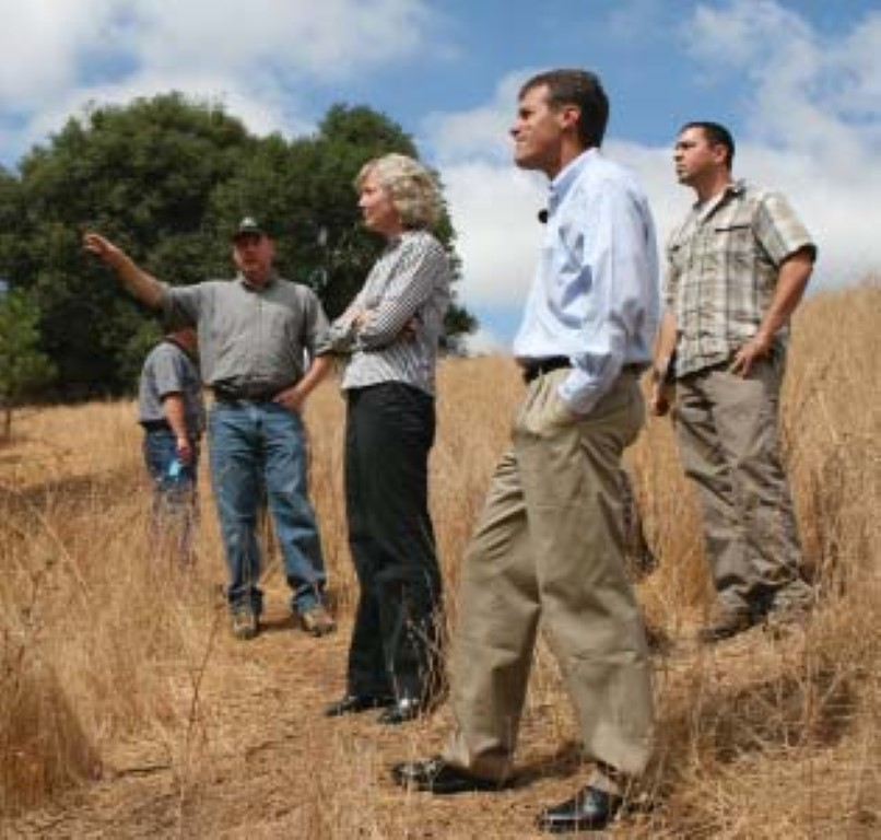 PLT staff touring the Preserve with Assemblyman Ted Gaines and SNC staff.