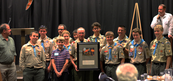 Granite Bay Boy Scout Troop 121 receiving the 2013 Placer Conservator Award