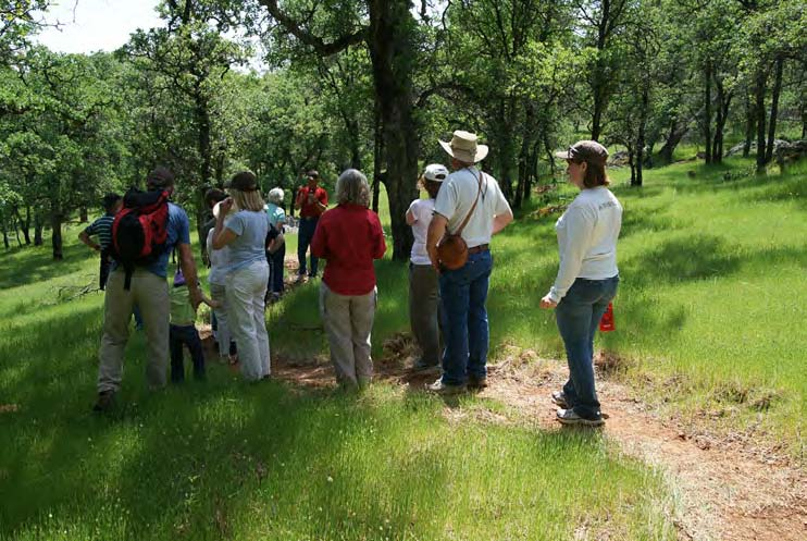 Hikers enjoy one of the docent led hikes at our Big Hill Experience in April.