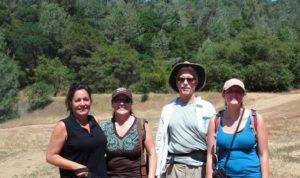 Docent Connie Watson, hiker Pam, Docent Bob Niblack and Docent Mariah Thomas on May 2013 Harvego Big Hill Docent-led Hike