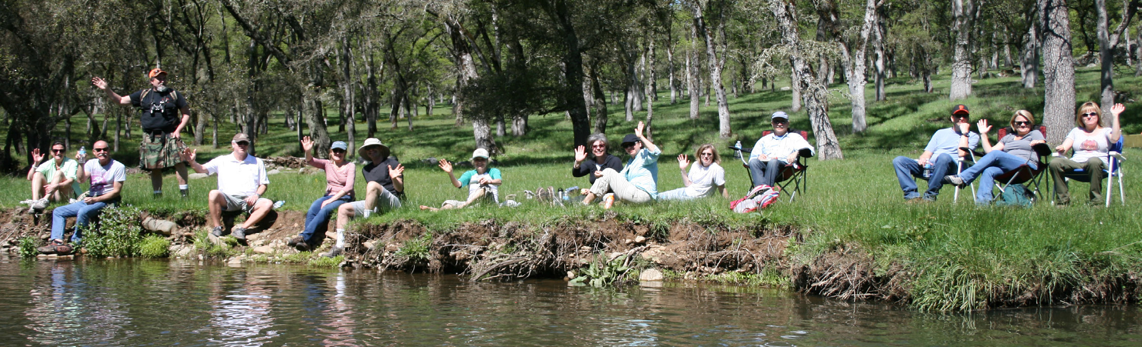 Placer Land Trust supporters enjoy a hike and picnic at Taylor Ranch Preserve.