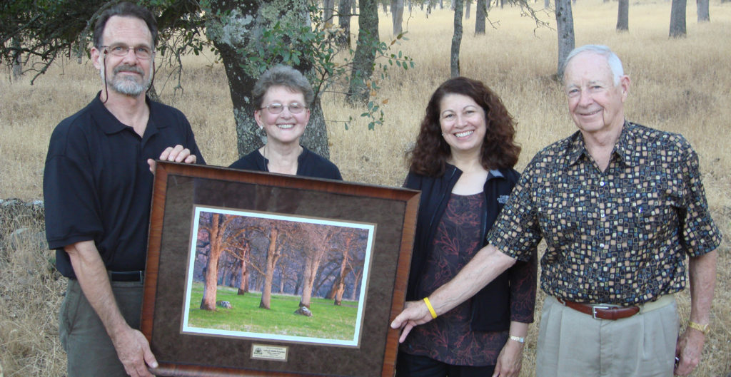 Michael Beck, Janet Cobb, Ellen Moldonado, and Hal Browder of the Wildlife Conservation Board with the Placer Conservator Award at the Placer Harvest Celebration.