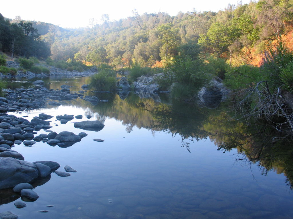 The Bear River at sunrise.