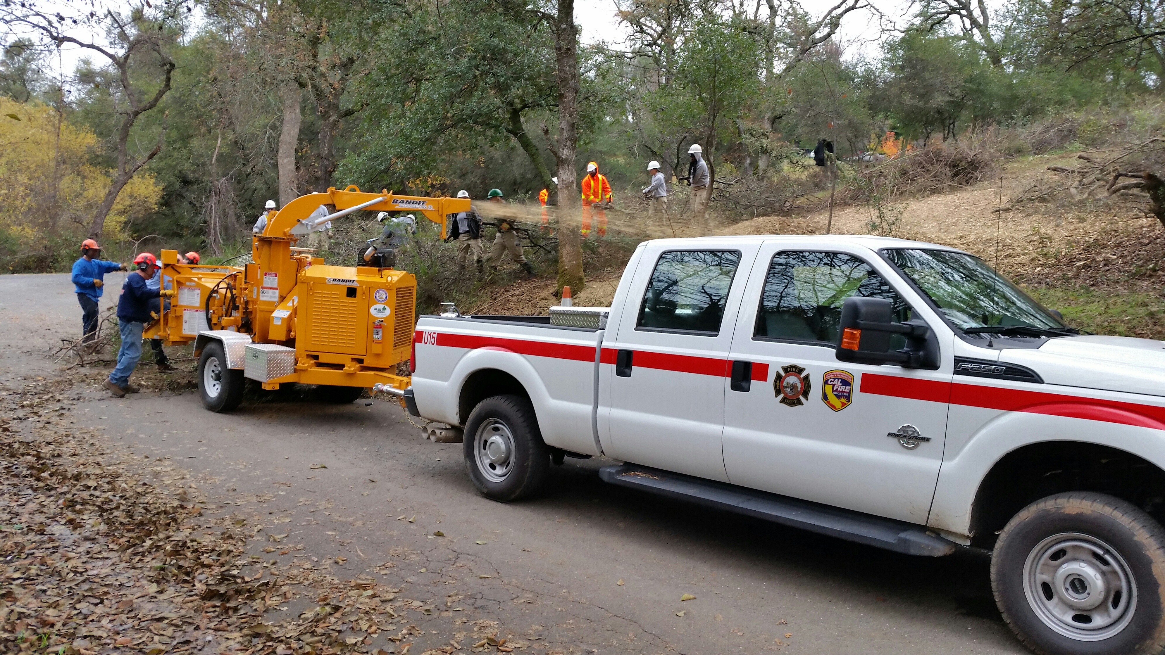 Placer County Fire Map.Placer Land Trust Placer County Chipper Program At Work