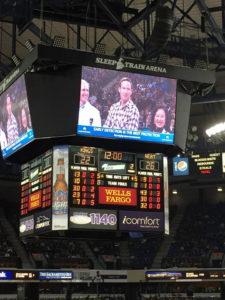 Justin Wages on scoreboard